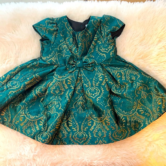 Children's Place Green Holiday Dress